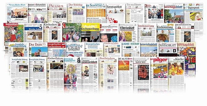 Kollage Zeitungen