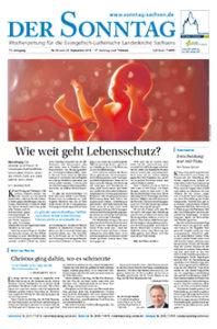 Der Sonntag - Wochenzeitung für die Evangelisch-Lutherische Landeskirche Sachsens